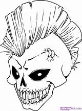 Graffiti Coloring Pages Skull Popular Outline Street sketch template