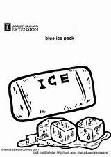 Ice Pack Coloring Edupics sketch template