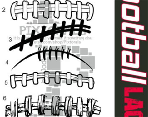 american football lace vector distressed football clipart 40