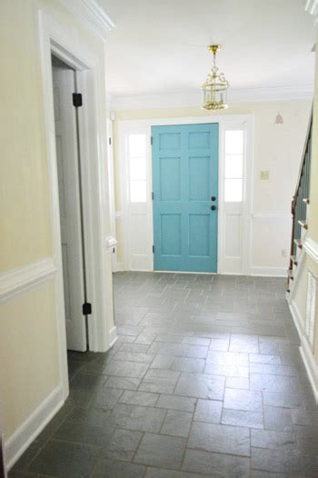 painting the back of your front door a bold color house love
