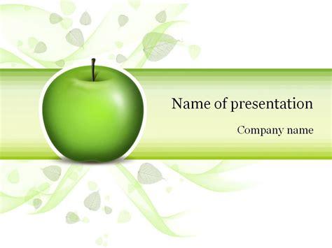 green apple powerpoint template templates pinterest