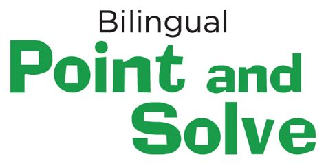 Bilingual Point And Solve  King Features Syndicate