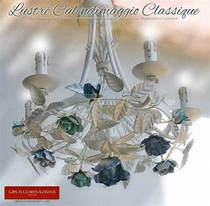 Lustre En Fer Forgé : lustre en fer forg calendimaggio classique blanc ~ Dailycaller-alerts.com Idées de Décoration