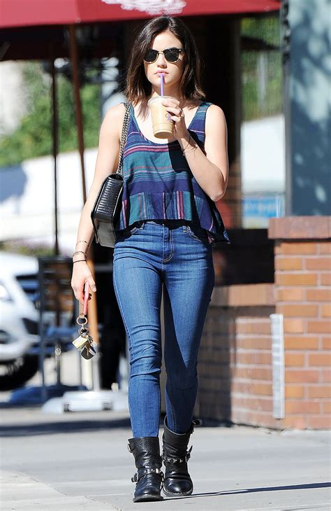 Lucy Hale Booty in Jeans - Out in Studio City, February ...