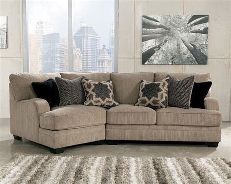 Cuddler Loveseat by Katisha Platinum 2 Sectional With Left Cuddler By
