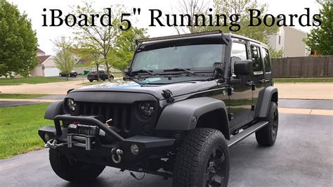 iboard running boards jeep wrangler installation youtube