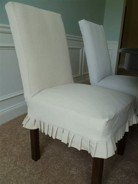 parsons chairs with slipcovers parsons chair slipcovers cotton tiered ruffled dining
