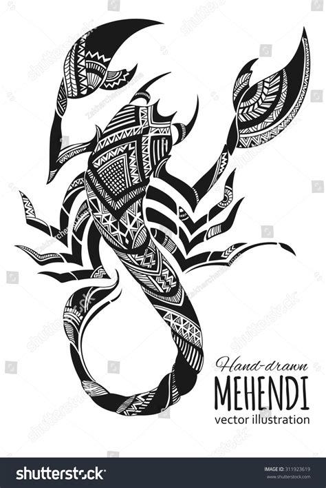 scorpion web design ethnic indian totem design stock vector