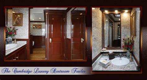 luxury restroom trailers special  trailers short