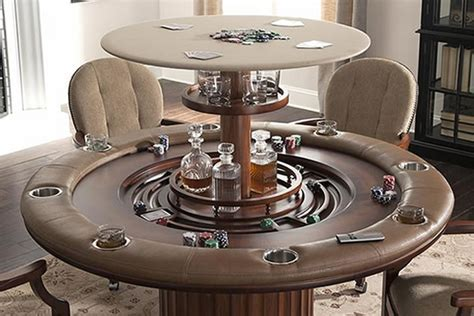 Poker Table with Hidden Bar   Cabinet Tronix