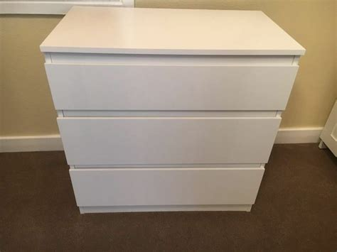 Ikea Culle by Ikea Chest Of 3 Drawers Kullen White Ebay