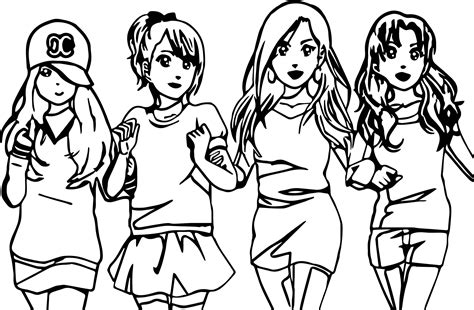 awesome  anime  friends  coloring page