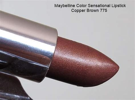 maybelline color sensational lipstick copper brown  review