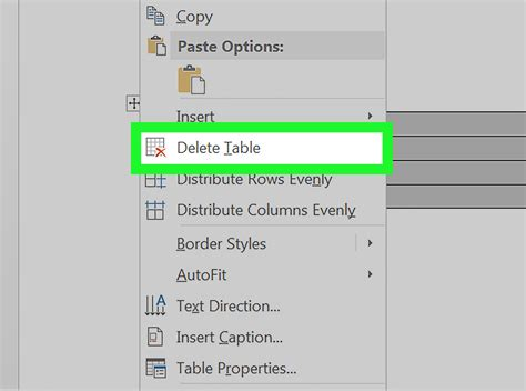 how to delete a table in word 6 steps with pictures wikihow