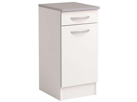 meuble cuisine profondeur 40 meuble bas 40 cm 1 porte 1 tiroir spoon coloris blanc