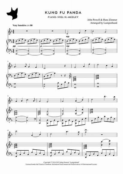 Sheet Violin Panda Fu Kung Piano Notes