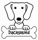 Coloring Pages Dachshund Dog Burning Wood Puppy Stencil Breeds Animal sketch template