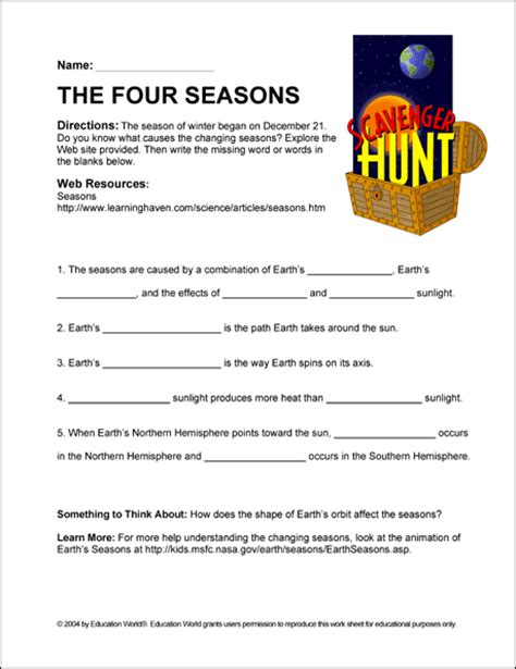 reasons for seasons worksheet answers worksheets for all