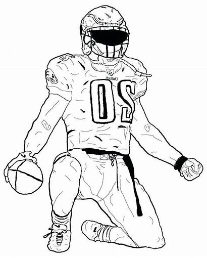 Coloring Football Player Pages Drawing Nfl Players
