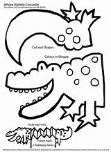 Crocodile Craft Crafts Coloring Pages Parts Paint Card Onto Preschool Printable Letter Nile Activities Colouring Around sketch template
