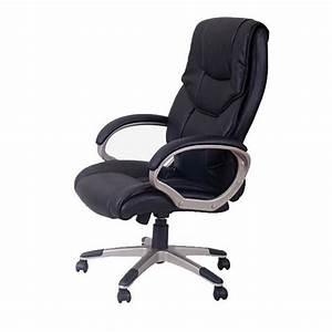 Fauteille De Bureau : fauteuil bureau luxe pivotant noir achat vente chaise de bureau noir cdiscount ~ Teatrodelosmanantiales.com Idées de Décoration