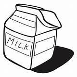 Milk Carton Coloring Netart Clipart Clip Template sketch template