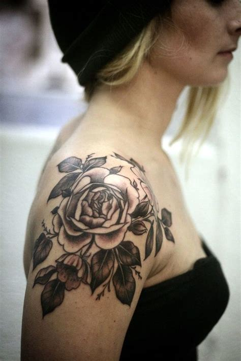 ideas  rose shoulder tattoos  pinterest