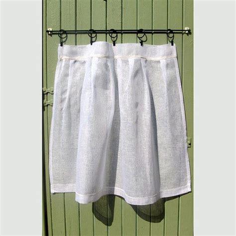 white linen lace curtain xl custom cafe curtain