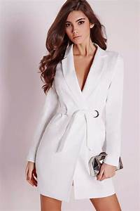 bianca white blazer dress smart wild thing With robe fille hiver