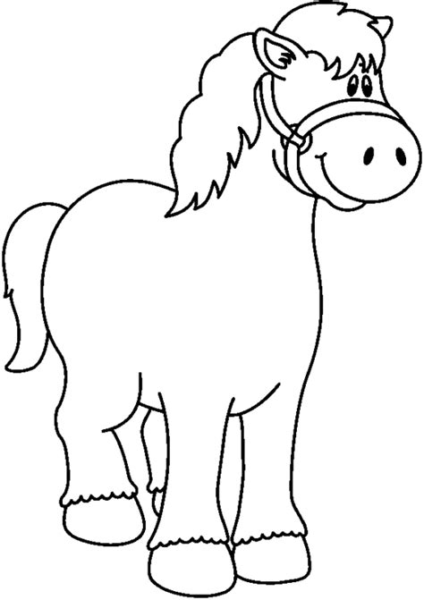 Pony Clip Pony Clipart Outline Collection