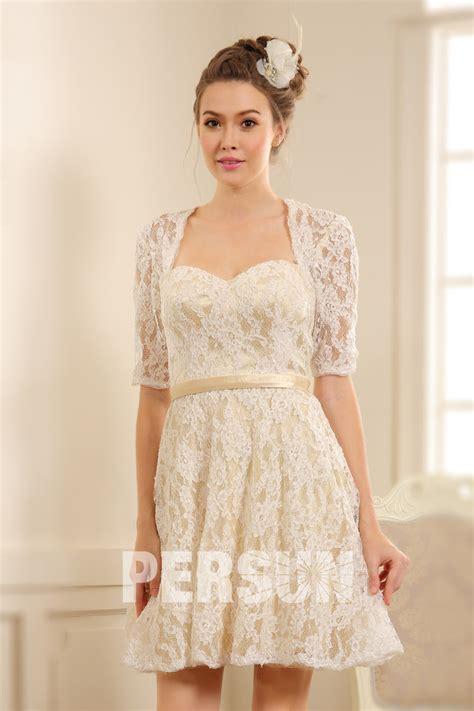 robe habillée pour mariage robe courte habill 233 e pour mariage avec manches dentelle