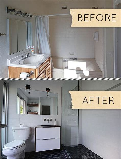 small modern bathroom remodel before after paperblog