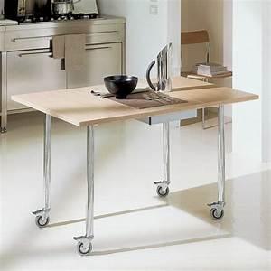 designs creatifs de table pliante de cuisine archzinefr With table de cuisine design