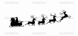 Best Photos of Santa And Reindeer Silhouette Clip Art ...