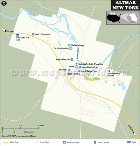 altmar map  hamlet  oswego county  york usa