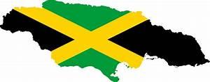 Clipart - Jamaica Map Flag