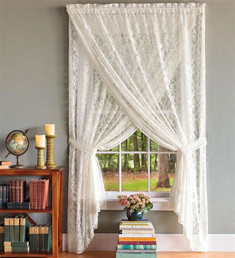 4 styles of sheer lace curtains
