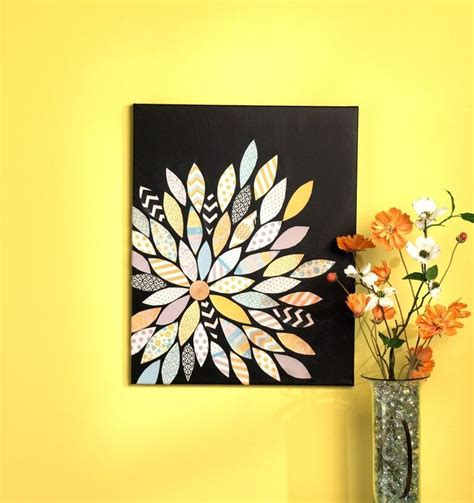 Painting Ideas Diy by Diy Canvas Painting Ideas Scrapbook Paper Pieced Flower