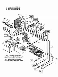 Club Car Wiring Diagram 36 Volt For Basic Ezgo Electric Golf Cart In Ez Go Golf Cart Parts