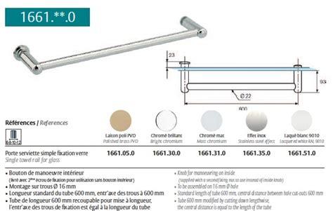 porte serviette paroi de porte serviette chrom 233 brillant pour paroi de en verre ref str 1661 30 0 stremler