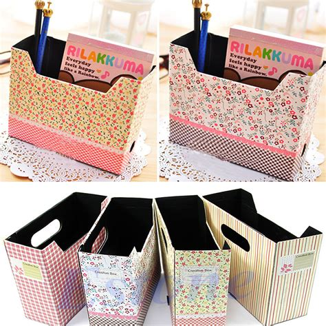 Boxes For Decoration - diy makeup cosmetic stationery paper board storage