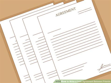 How To Write A Loan Agreement Between Friends (with Pictures