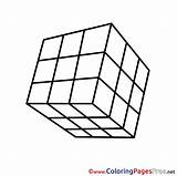 Cube Colouring Printable Rubik Coloring Pages Rubiks Sheet Sheets Title sketch template