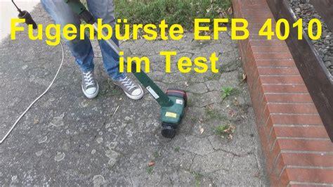 elektro fugenbuerste efb  im test unkraut fugen