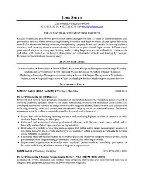 top public relations resume templates samples