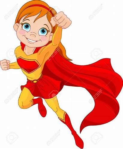 Superhero Royalty Vector Female Clipart Superheroes Clip