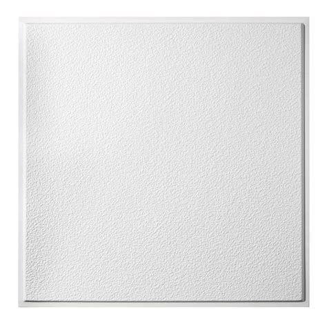 Genesis Designer Ceiling Tile by Genesis 2 Ft X 2 Ft Stucco Pro Revealed Edge Lay In