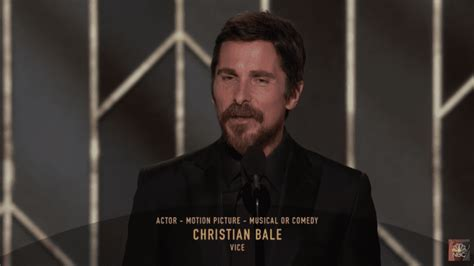 Christian Bale Thanks Satan After Golden Globes Win For