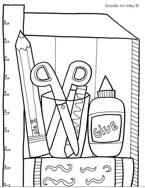 School Supplies Coloring Pages at GetColorings com Free