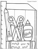 Classroom Drawing Coloring Pages Objects sketch template
